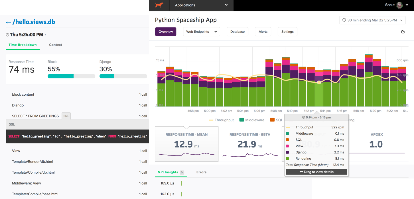 Python monitoring screenshot